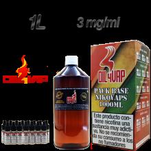 PACK OIL4VAP 1 LITRO 3 MG