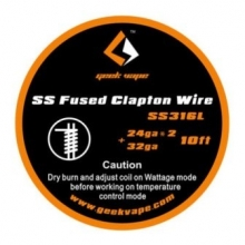 GeekVape Fused Clapton SS316 Tape Wire (24GA*2/Paralleled + 32GA)