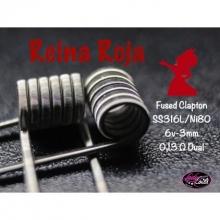 Lady Coils  REINA ROJA - (FUSED) SS316L/NI80 0.13/ 0.26