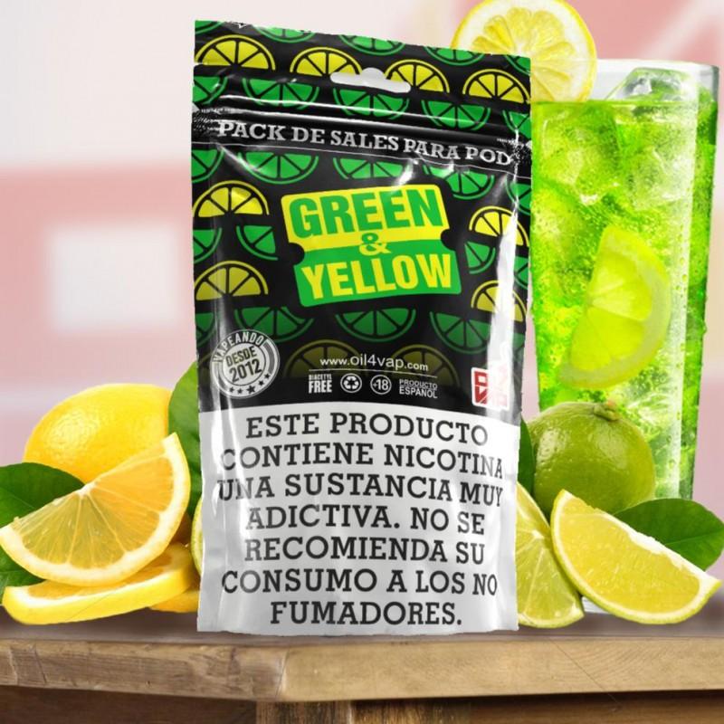 Pack SALES Oil4vap GREEN & YELLOW